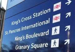 Railtrack: Station branding and signing system